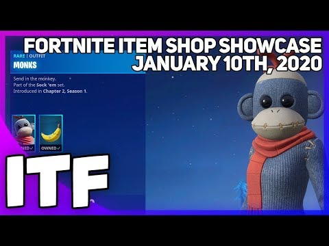 Fortnite Item Shop *NEW* MONKS SKIN! [January 10th, 2020] (Fortnite Battle Royale)
