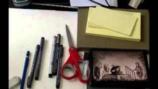付箋にエドワード・ゴーリーのシュールでかわいい世界観を描いてみた。