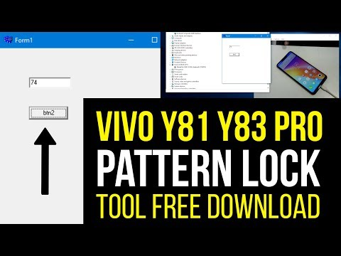VIVO Y81 & Y81 PRO Pattern Lock Remove with Format Tool it's