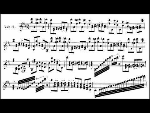 Paganini, Niccolò La Streghe, Op.8 for violin + piano