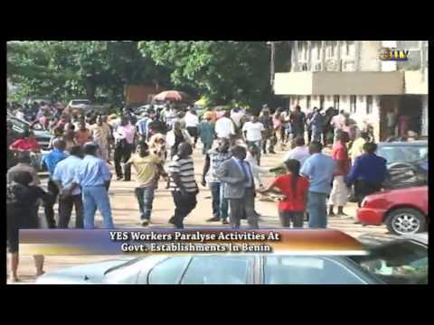 YES workers paralyse activities at govt. establishments in Benin