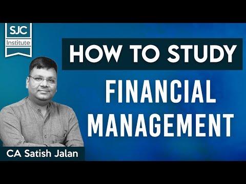 How to study Financial Management | CA, CS, CMA | Satish Sir