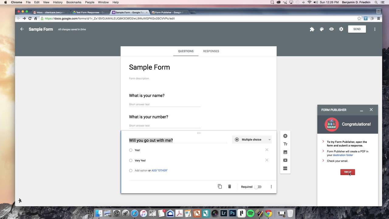 Google Forms and Form Publisher - YouTube