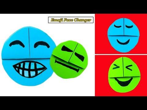 Origami for kids | Emoji Diy Paper Crafts | Emoji Face Changer | NK Crafts