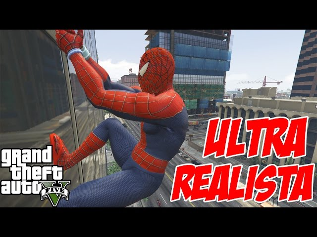 Ultra Realista Homem Aranha Mod GTA V