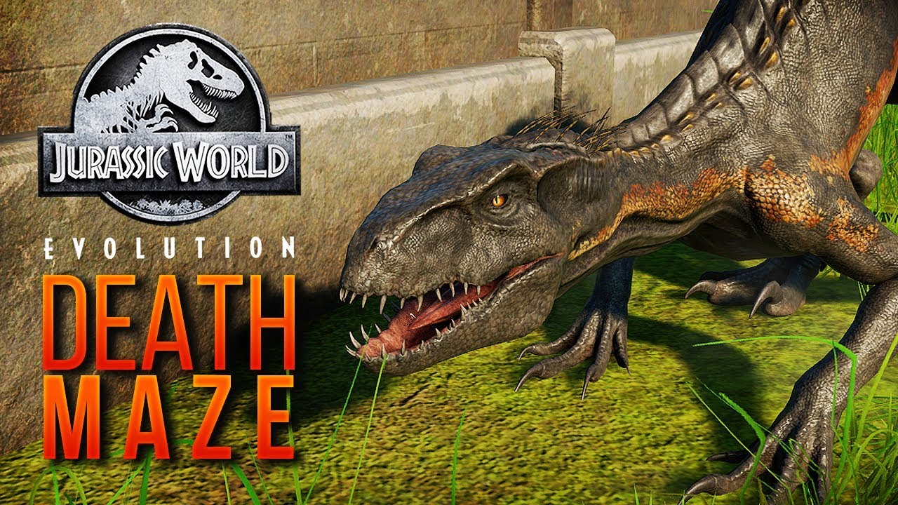 INDORAPTOR JOINS THE DEATH MAZE | Jurassic World: Evolution Maze Challenge