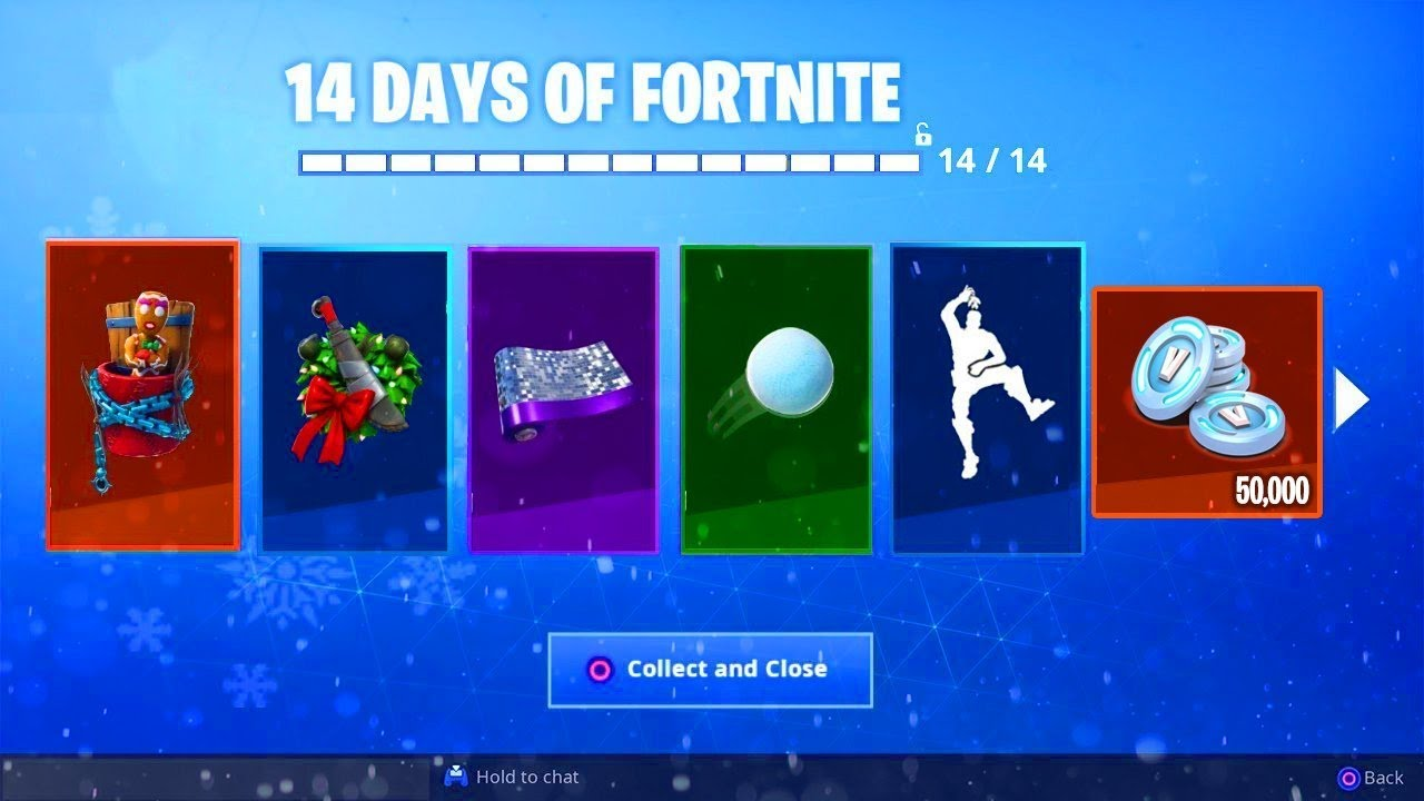 When Is 14 Days Of Fortnite All 14 Days Of Fortnite Free Rewards Leaked Skin Glider Emotes Pet More Youtube