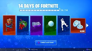 ALL 14 DAYS OF FORTNITE FREE REWARDS LEAKED! (Skin, Glider, Emotes, Pet & MORE)