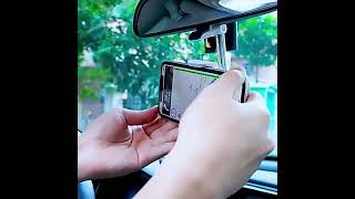 차량용 다기능 룸미러 뒷좌석 핸드폰 360도 홀더 거치…