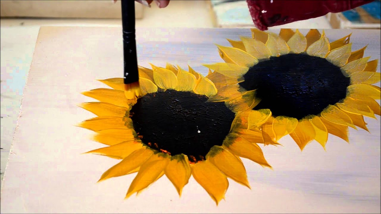 painting sunflowers simple and fun youtube - Fun Pictures To Paint