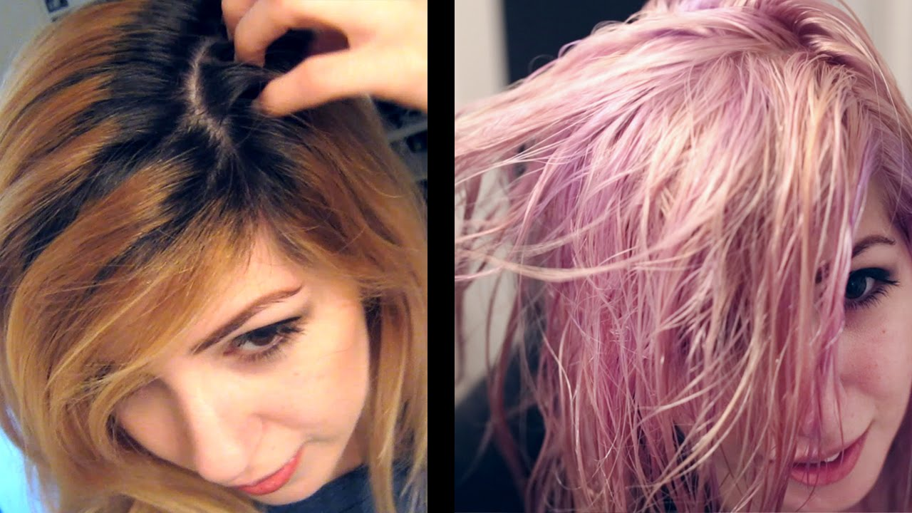 Pastel Purple Hair Process Youtube