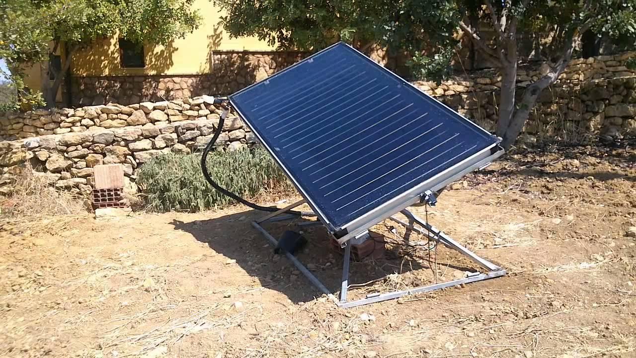 Pannello Solare A Sud Ovest : Dual axis solar tracker inseguitore solare autocostruito