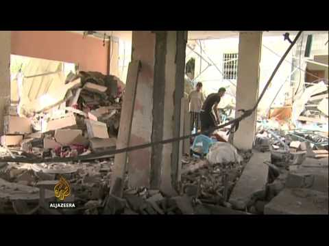 Israeli bomb hits Gaza centre for disabled