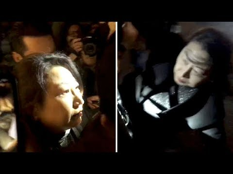 video: Hong Kong justice secretary ambushed by pro-democracy protesters in London