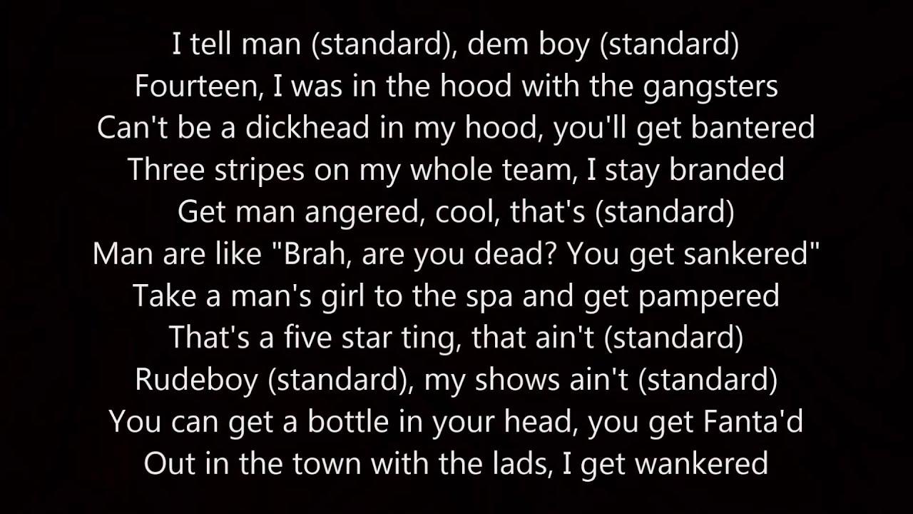 Dizzee rascal lyrics