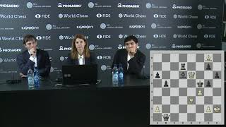Round 2. Press conference with Grischuk and So