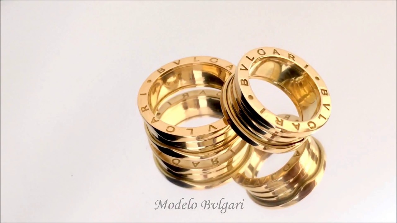 997ccb0f061 Don Joalheria - Par de Alianças em Ouro 18k 750 Bvlgari 40gramas ...