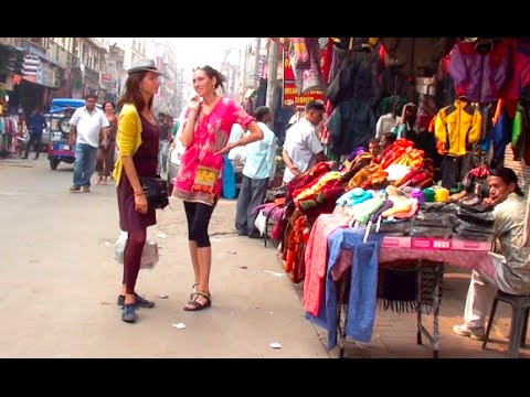 New Delhi Street Walk - Market Bazar - India - ASMR