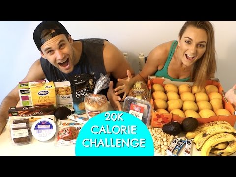 20,000  CALORIE CHALLENGE/ VEGAN/ GOOD VS BAD FOOD