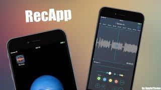 Бесплатное приложение! Профессиональный диктофон RecApp