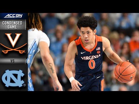 Virginia vs. North Carolina Condensed Game | 2019-20 ACC Men's Basketball