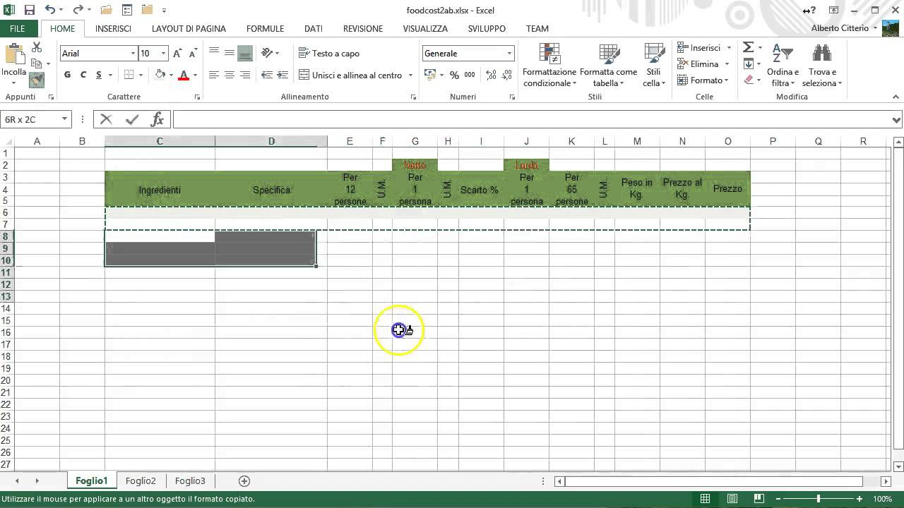 Food Cost con Excel - YouTube