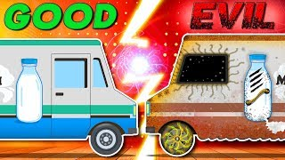 Milk Van | Good Vs Evil | Car Cartoon Videos For Babies by Kids Channel