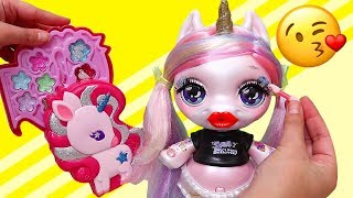 Baby Unicorns Put Toy Makeup On | Toys and Dolls Pretend Play for Kids with Poopsie Unicorn | SWTAD