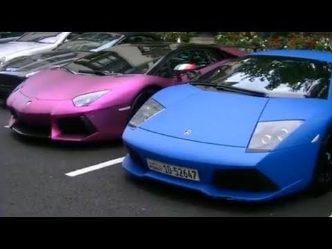 Purple Lamborghini Aventador Arrives In London Youtube