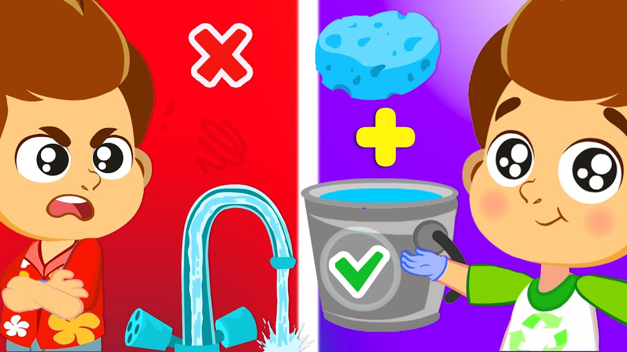 We help our moms and dads to wash the car and save water!   Superzoo educational video