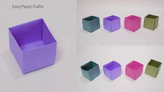 How To Make a Paper Box Without Glue - Origami