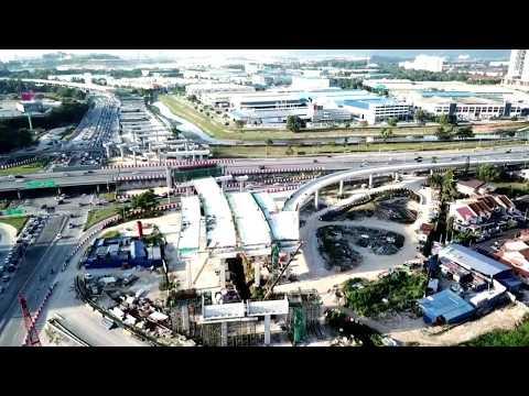 Bukit Raja Klang Interchange   West Coast Expressway 28.10.2017   Drone footage   1080p Full HD