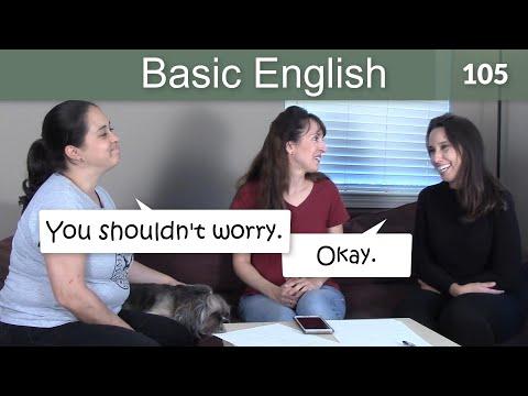 Lesson 105 ????? Basic English with Jennifer - SHOULD for advice