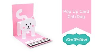 Pop Up Card Cat and Dog