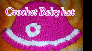 Crochet easy baby hat for beginners tamil/உல்லன் நூலில் தொப்பி /crochet baby hat pattern