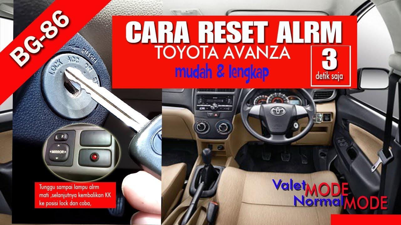 Cara Setting Alarm Grand New Avanza Ganti Klakson Reset Toyota Dengan Mudah Youtube
