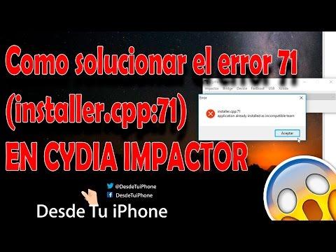 Como solucionar el error 71 error 81- (installer.cpp:71) (installer.cpp:81) EN CYDIA IMPACTOR