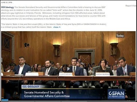 Senate Homeland Security  Gov Affairs Committee:  ISIS Ideology