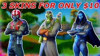 How to get 3 SKINS for only $10! Secret Unknown Trick! (Fortnite Battle Royale)