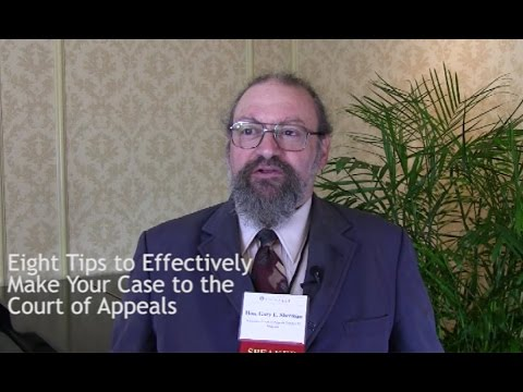 Eight Tips to Effectively Make Your Court of Appeals Case