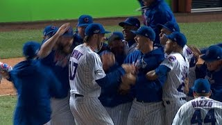 10/22/16: Hendricks dominates, Cubs win pennant by : MLB