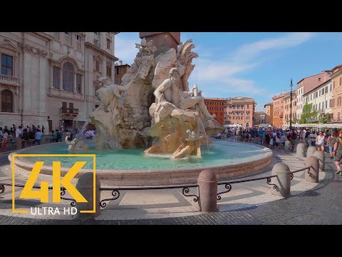 Rome, Italy - 4K Virtual Walking Tour around the City - Travel Guide