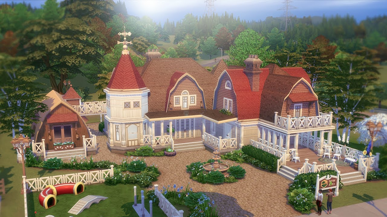 The Sims 4 Cats And Dogs House Build Collab W Steph0sims Youtube