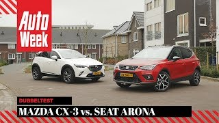 Mazda CX-3 vs. Seat Arona - AutoWeek Dubbeltest - English subtitles