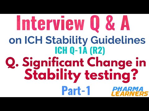 Pharmaceutical interview questions on ICH stability guidelines|Part-1