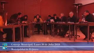 Concejo Municipal Lunes 30 de Julio 2018 El Quisco