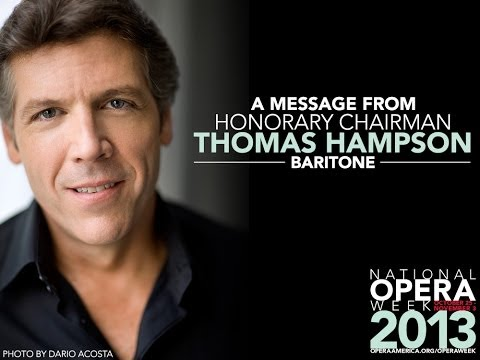 A message from Thomas Hampson, Honorary Chair of National ...