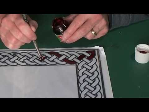 Glass Painted Celtic Picture Frame Project.