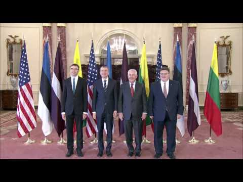 Secretary Tillerson Meets With Foreign Ministers of Latvia, Lithuania, Estonia