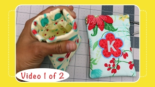 Gambar cover Snap Pouch Tutorial with Machine Embroidery Applique - Video 1 of 2